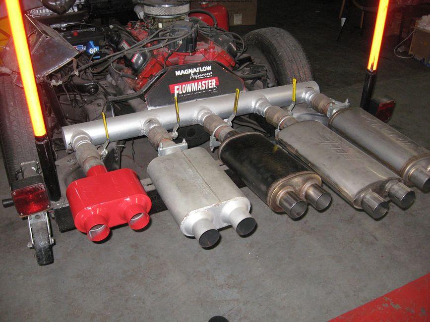 Longoria's radiator and muffler