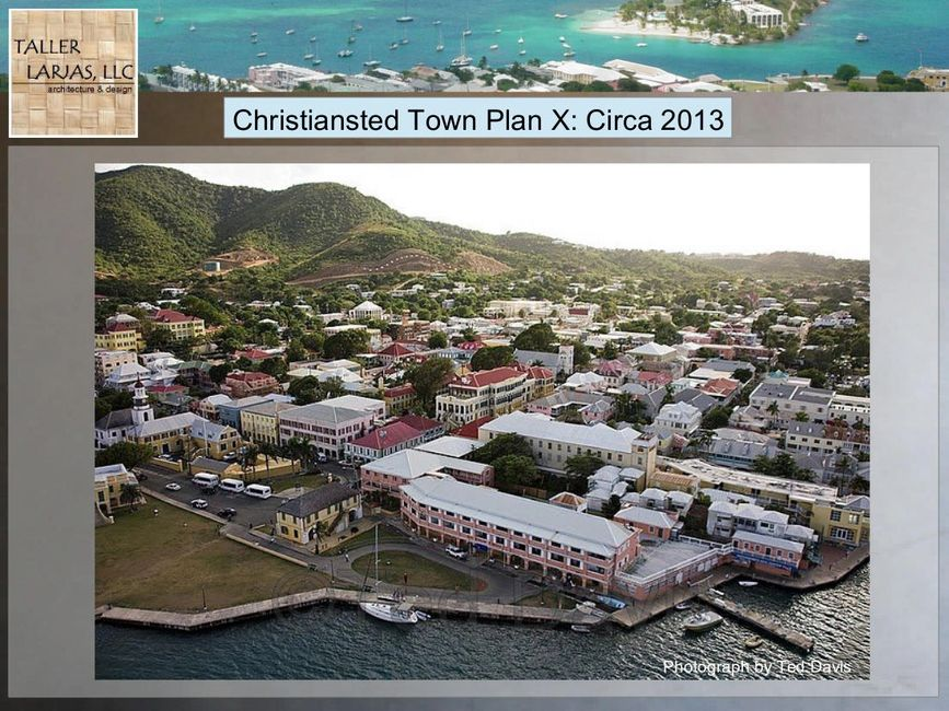 Christiansted aerial photograph by Ted Davis
