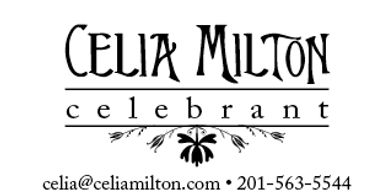 Need a celebrant for your party? Celia Milton is a true professional you can count on.