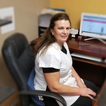 Liliana Sadikaj, Pain and rehab center's licensed massage therapist.