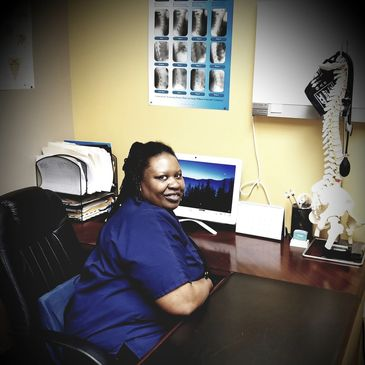 Tanisha King, Pain and rehab center's licensed massage therapist.
