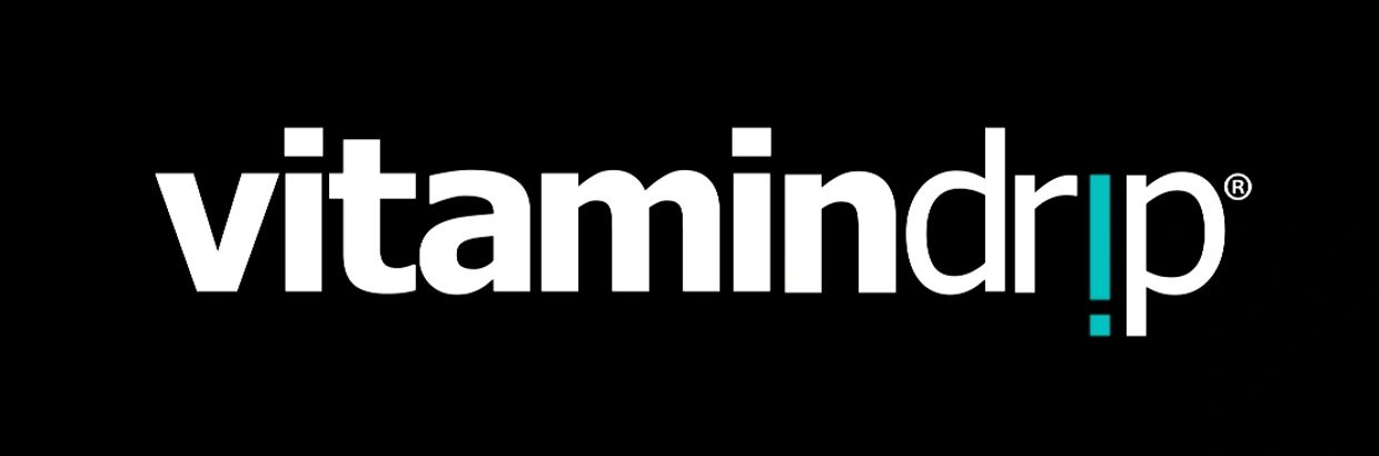 Vitamindrip logo in black background
