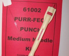 Perfect Punch Needle for 6 strands   With built in Height of loop gauge for Purr-fect punching.