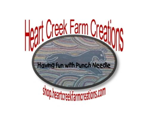 Hearts in Bloom Primitive Punch Needle Pattern