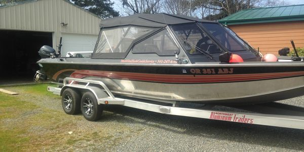 The Boat  is a 24' Boice Jet Inboard, 9.9 Yamaha Trolling motor  comfortably fishes 4.