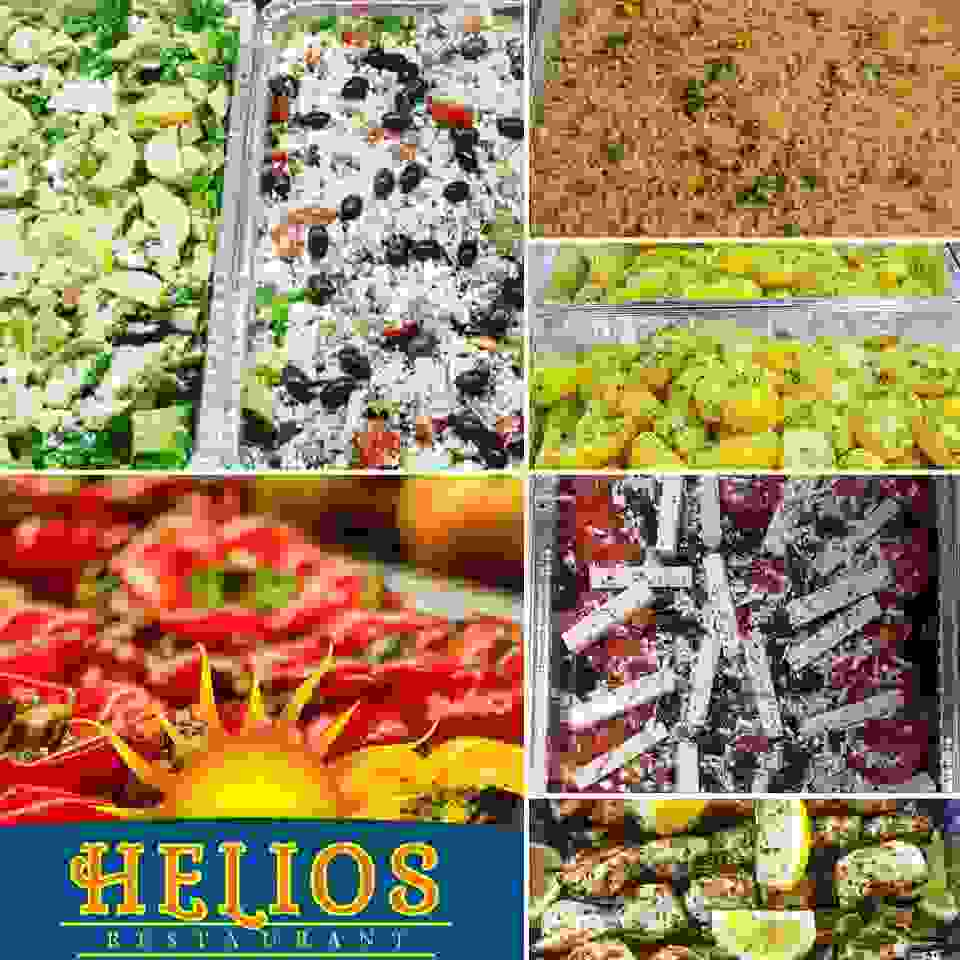 Catering salad rice potato trays caterer
