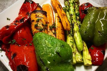 Grilled vegetable grilled veggies pepper asparagus carrot