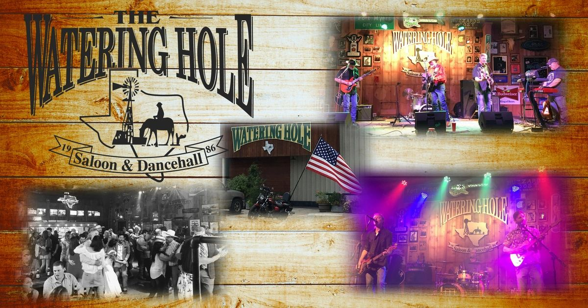 watering hole saloon dancing live music drink specials beer drinks rock n' roll country non smoking