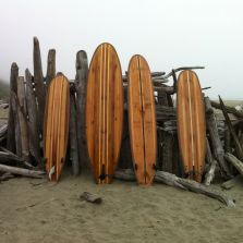 Wooden surfboard SUP Beach SUrfing Tofino