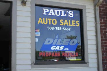 Vinyl graphics for propane business. Worcester, MA