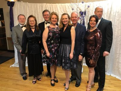 New Years Eve ballroom dance students, social dance latin swing hustle