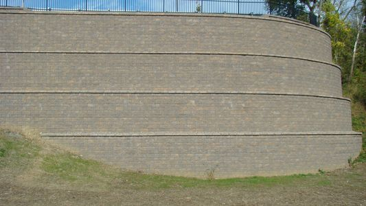 KEYSTONE Retaining Wall Systems offer the most efficient options for commercial engineered walls