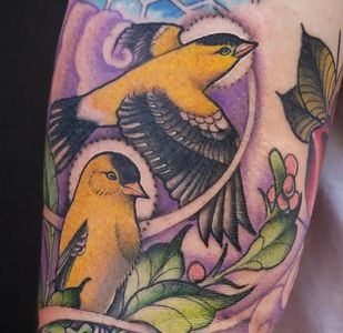 Neo trad traditional new school tattoo Asheville tattoos