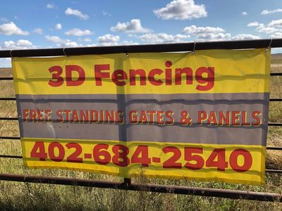 3 D Fencing Free Standing Gates and Panels at Dearmont Ranch