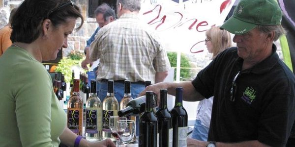 Wine'n on the Chisholm Trail Festival in downtown Duncan, Oklahoma on Main Street Duncan.