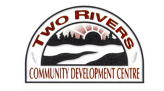 Logo of Two Rivers Community Development located on Six Nations near Brantford, Ontario, Canada.