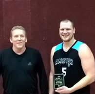 Class A MVP : L to R Commissioner Marv Ryan and Skylar Bloch