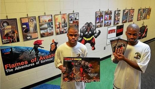 Brothers display comic book series about autism at Indian Valley YMCA