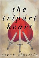 A book cover with an upside down heart pierced by three arrows.