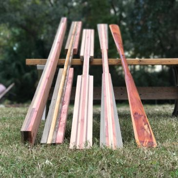 Building process for Greenland paddles