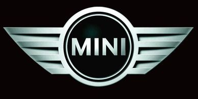 Mini Auto Logo. Mini Cooper Car Logo and Badge.