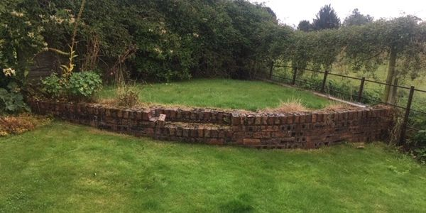 Drystone walling garden feature in Perth, Perthshire Dundee, Angus and Fife