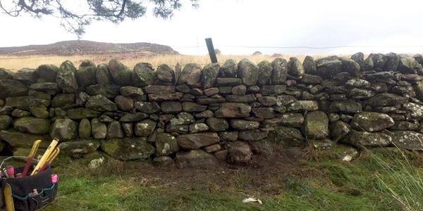 Drystone Walling repairs and new stone dyking walls in Perth Perthshire, Dundee, Fife and Angus.