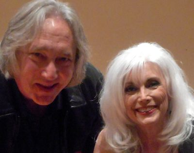 Tim Sublette of Smithville Music with Emmylou Harris at Johnson County Community College.