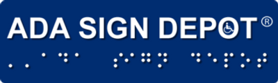 Logo and link for ADA Sign Depot for discounted ADA signs