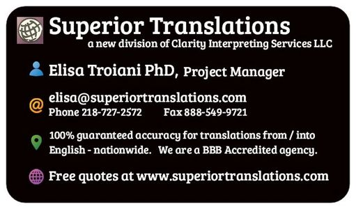 Superior Translations, a division of Clarity Interpreting Services, LLC