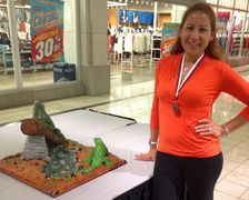 Second Place Master Division Sculpted Cake Competition at The Ithaca New York Cake Competition.