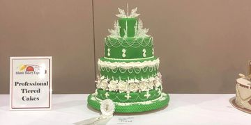 Third Place Professional Wedding Cake Competition at the Atlantic Bakery Expo.