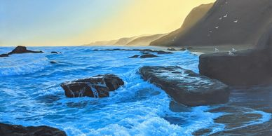 Original Seascape Oil Painting on Canvas
