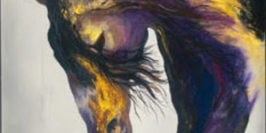 horse painting by Kiki Winters