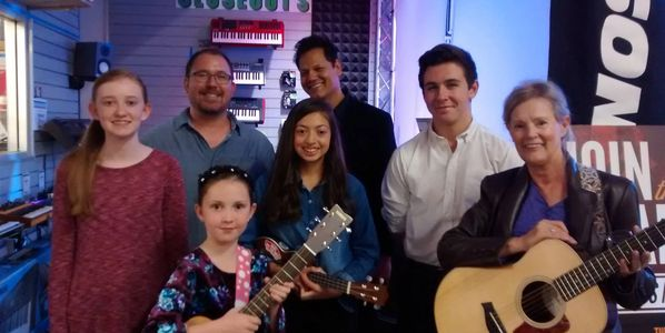 Some of our students after a performance at Sam Ash Music Store!