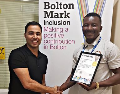 Daniel Sukula CEO and Wahid Khan ( Bolton Council Programme Co_ordinator - Physical Activity