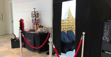 Enclosed photo booth, enclosed photobooth