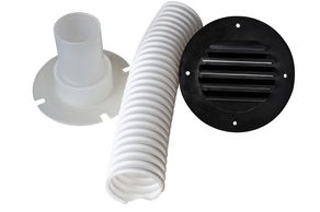Part #277 Complete Vent Accessory Kit w/ Black Vent RV Battery Box Accessories MTS Products
