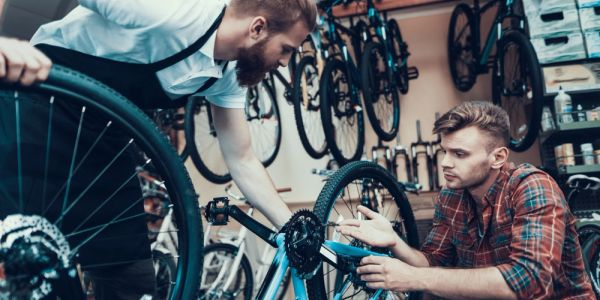Mentoring in a bike shop