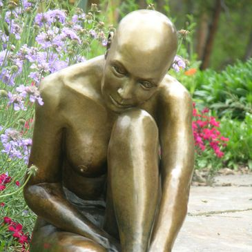 Purity nude female form bronze statue