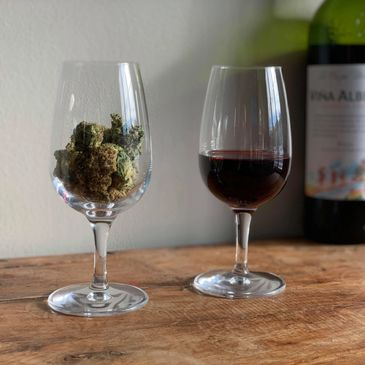 the cannabis sommelier , a glass of wine and a glass of weed , andrew freedman , the cannabis somm
