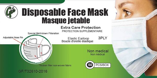 WHITE DISPOSABLE MASKS
