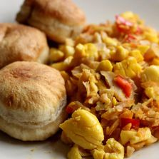 Ackee and saltfish...