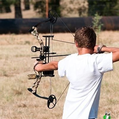Beginner Compound Bow Package Arrow sight rest quiver peep sight