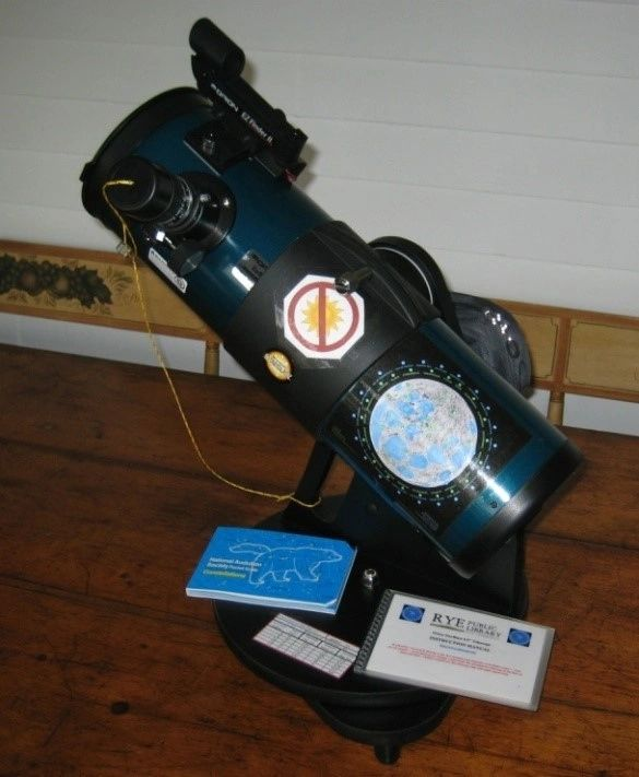 Borrow the telescope from the Richards Memorial Library in Paxton, Massachusetts.