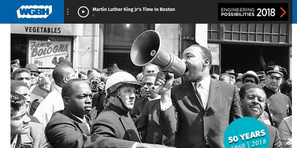 """MLK in Boston"", ""All Things Considered"", ""Clennon L. King"", ""Barbara Howard"", ""WGBH"""