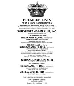 Premium Lists show important information and rules for our dog shows!