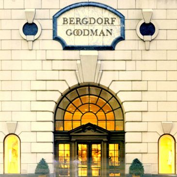 Bergdorf Goodman luxury retail store entrance on Fifth Avenue in New York City.
