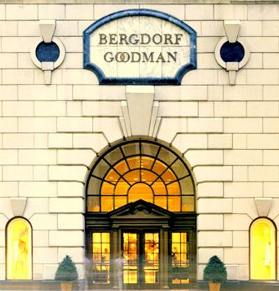 Bergdorf Goodman luxury retail store on Fifth Avenue in New York City home to the world's top fashion designers and their creations.