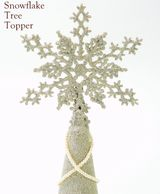Eliot-Raffit-Christmas-Decor-Tree-Topper-Snowflake-Glass-Glitter-Vintage-Silver-Mae-In-The-USA-2017